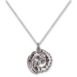 Spiral Dragon Pendant - Sterling Silver