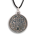Celtic Disc Pendant - Sterling Silver