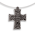 Gothic Cross Pendant - Sterling Silver