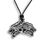 Guard Dogs Pendant - Sterling Silver