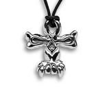 Skull Ankh Pendant - Sterling Silver