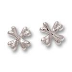 Cross Bones Earrings - Sterling Silver