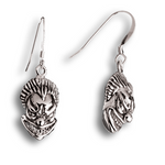 Insane Clown Earrings - Sterling Silver