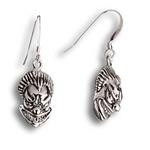 Insane Clown Earrings - Sterling Silver