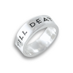 Til Death Wedding Ring Silver