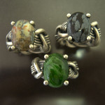 Heavy Weave With Chrome Diopside Cab