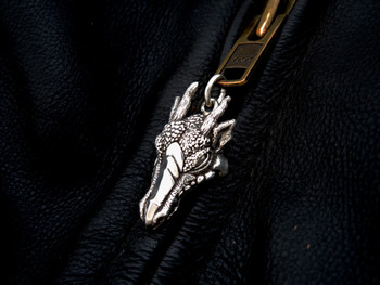 Dragon Zipper Pull in Sterling Silver