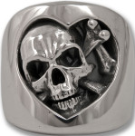 Skull of Hearts Ring