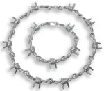 Barbwire Necklace - Sterling Silver