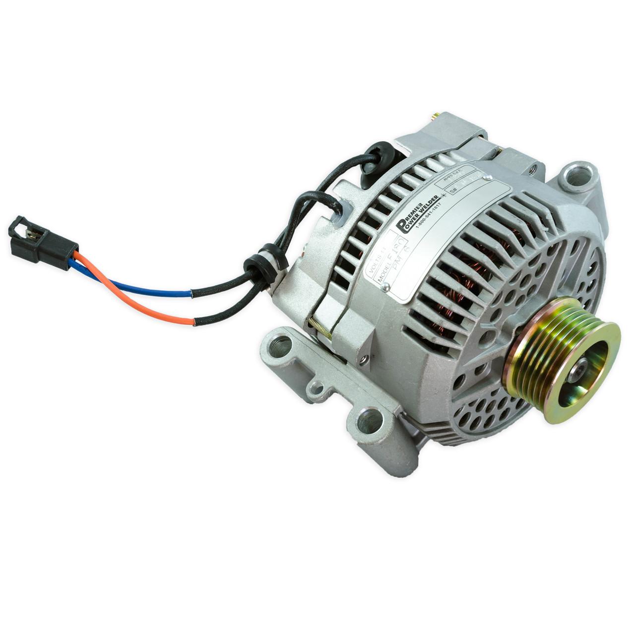 ford bronco 1993 1996, 180 amps high output \u0026 welding alternator Ford Truck Alternator Wiring Diagram