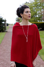 CASHMERE WRAP RUBY RED