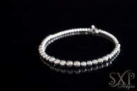 GRADUATED SILVER PEARL NECKLACE