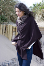 CASHMERE WRAP ESPRESSO BROWN