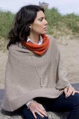 CASHMERE WRAP DARK NATURAL