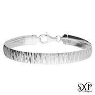 Crinkled Flat Strap Bracelet