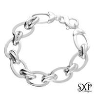 Large Ovals Open Link Bracelet