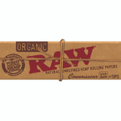 RAW Organic Papers Connoisseur 1-1/4 + Tips