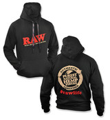 RAW Black Hoodie with Poker Laces