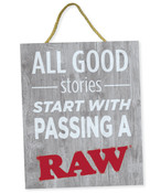 RAW Rustic Wood Sign Good Stories