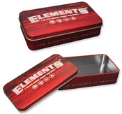 ELEMENTS Red Metal Tin Box