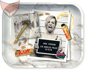 RAW Rolling Tray Large Jada Stevens Design Metal
