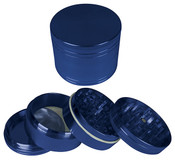 "HAMMERCRAFT 4PC Anodised Blue Aluminium CNC Grinder Small w/Magnet (50mm / 2"")"