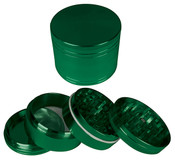 "HAMMERCRAFT 4PC Anodised Green Aluminium CNC Grinder Small w/Magnet (50mm / 2"")"
