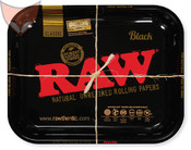 RAW Black Metal Rolling Tray Large