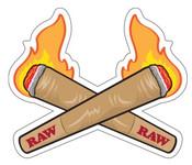 RAW Crossing Cones Sticker