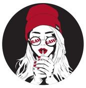 RAW Art Deco Smoking Girl Sticker
