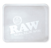 RAW Rolling Tray Glass Large Ice Logo