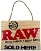 RAW Wood Sign Sold Here