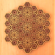 'Hexa-Fractal' Two Layer Wall Art
