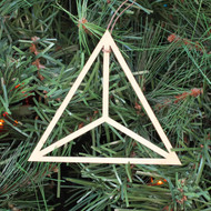 Tetrahedron Ornament - Sacred Geometry - Laser Cut Wood