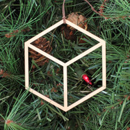 Cube Ornament - Sacred Geometry - Laser Cut Wood