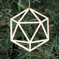 Icosahedron Ornament - Sacred Geometry - Laser Cut Wood