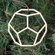 Dodecahedron Ornament - Sacred Geometry - Laser Cut Wood