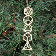 Platonic Solids Ornament - Sacred Geometry - Laser Cut Wood