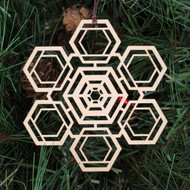 Hexa Fractal Ornament - Sacred Geometry - Laser Cut Wood