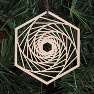 Orbital Reflections Ornament - Sacred Geometry - Laser Cut Wood