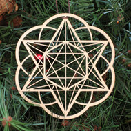 Starseed Ornament - Sacred Geometry - Laser Cut Wood