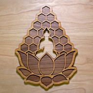 'Meditation Lotus' Two Layer Wall Art