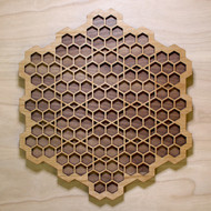 'Honeycomb Grid' Two Layer Wall Art