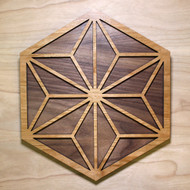'Asanoha Hexagon' Two Layer Wall Art