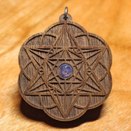 'Starseed' Pendant - Tanzanite in Walnut Harwood