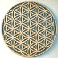 Flower of Life - Maple on Cherry on Walnut 3 Layer Wall Art