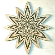 Sun Star Three Layer Wall Art - Maple, Cherry, Walnut