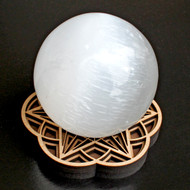Star Seed Sphere Stand - with optional Selenite Sphere