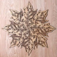 "'Maple Leaf Mandala' 22"" Two Layer Wall Art"