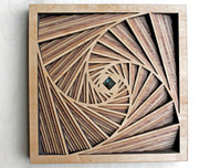 Square Vortex 10 Layer Wall Art